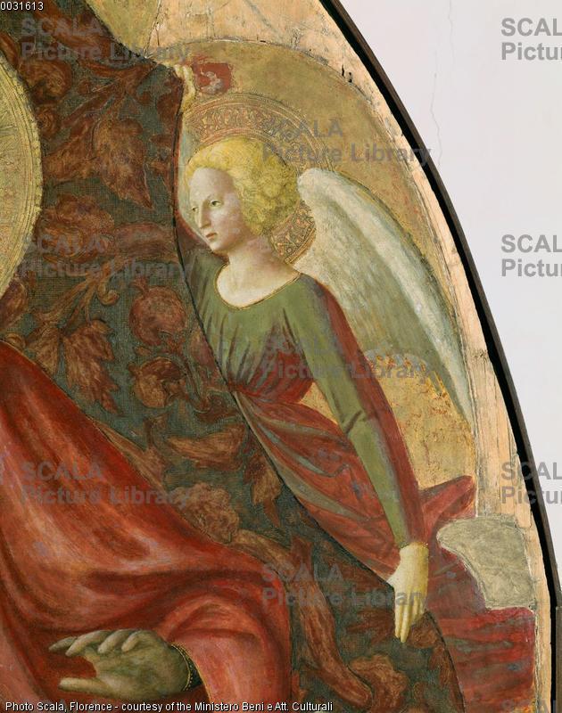 Masaccio (1401-1428) Madonna col Bambino e S. Anna - p. (angelo in alto a destra)