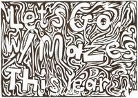 Frimer, Yonatan (b. 1977) Maze Calendar Cover, 2009