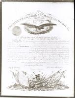 ******** Diploma signed by Abraham Lincoln confirming Jacob Frankel as Hospital Chaplain during the Civil War, signed March 2, 1864.