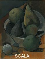 Picasso, Pablo (1881-1973) Fruchtschale mit Birnen und Aepfeln, 1908