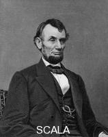 Jackman, William G. (fl. 1841-c.1860) Abraham Lincoln, 16th President of the United States, 19th century. Lincoln (1809-1865) joined the Republican party in 1858 and was elected president two years later. In 1863, he proclaimed the emancipation of all slaves in the southern Confederate states and later that year restated his anti-slavery views in the Gettysburg Address. During his 1864 campaign for re-election, he embraced the abolition of slavery. He was infamously shot by actor John Wilkes Booth whilst attending the theatre in 1865.