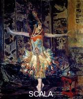 Blanche, Jacques Emile (1861-1942) La danseuse russe Tamara Karsavina (1885-1978) dans le ballet 'l'Oiseau de feu' compose par Igor Stravinski (1882-1971) en 1909