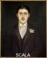 Blanche, Jacques Emile (1861-1942) Portrait de Marcel Proust (1871-1922), ecrivain francais