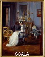 Blanche, Jacques Emile (1861-1942) Le boudoir bleu. 20th cent.