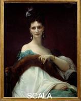 Cabanel, Alexandre (1823-1889) Portrait de la comtesse de Keller (marquise de Saint Yves d'Alveydre. 1873