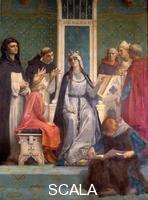 Cabanel, Alexandre (1823-1889) La reine Blanche de Castille donne une lecon au futur roi Louis IX (saint Louis) (1214-1270) enfant. 19th cent.