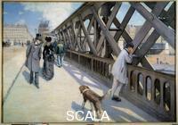 Caillebotte, Gustave (1848-1894) Vue du Pont de l'Europe a Paris en 1876. 1876
