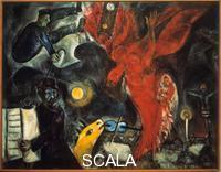Chagall, Marc (1887-1985) La chute de l'ange Allegorie representant la perte de l'ange de son statut divin. 20th cent.