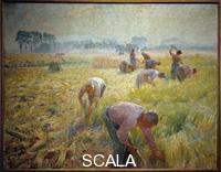 Claus, Emile (1849-1924) La recolte du lin