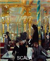 Orpen, William (1878-1931) Le cafe royal a Londres. 1912.