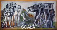 Picasso, Pablo (1881-1973) Massacre en Coree Vallauris. 1951.
