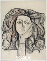 Picasso, Pablo (1881-1973) Portrait de Francoise. 1946.
