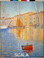 Signac, Paul (1863-1935) La bouee rouge, Saint Tropez. 1895.