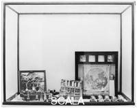 ******** Installation view of Joseph Cornell's 'The Elements of Natural Philosophy' and 'Soap Bubble Set' (1936) from the exhibition 'Fantastic Art, Dada, Surrealism', MoMA, NY, December 7, 1936 through January 17, 1937