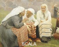 ******** Ruokokoski women, by Albert Edelfelt, Finland 19th century. Detail.