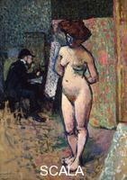 ******** Matisse Painting in the Studio of Manguin, 1904-1905. Artist: Albert Marquet Musee National dArt Moderne, Centre Pompidou, Paris, France.  ARTISTS COPYRIGHT MUST ALSO BE CLEARED.