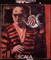 Beckmann, Max (1884-1950) Selbstbildnis mit Horn (Self-Portrait with Horn), 1938
