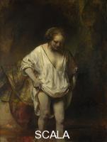 Rembrandt van Rijn (1606-1669) A Woman bathing in a Stream (Hendrickje Stoffels?), 1654