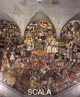 Rivera, Diego (1886-1957) La conquista spagnola e la Colonizzazzione - L'eredita' dell' Indipendenza. Sezione centrale di 'Dalla conquista al 1930', 1929-30.