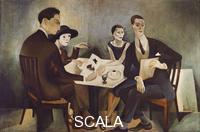 Almada Negreiros, Jose de (1893-1970) Self-portrait in a Group, 1925