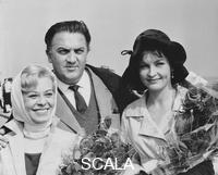 ******** Festival del cinema 1960 Federico Fellini con la moglie Giulietta Masina e Yvonne Furneaux