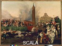 Pinelli, Bartolomeo (1781-1835) The Start of the Race of Barbary Horses