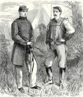 ******** Men of Colonel Ellsworth's Volunteer Regiment, American Civil War, June 1861. When the American Civil War broke out in April 1861 Elmer E Ellsworth responded to US President Abraham Lincoln's call for volumteers to join the army by raising the 11th New Yo