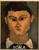 Modigliani, Amedeo (1884-1920) Portrait of the Painter Moise' Kisling, 1915
