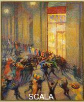 Boccioni, Umberto (1882-1916) Brawl in the Gallery
