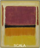 Rothko, Mark (1903-1970) Untitled (Violet, Black, Orange, Yellow on White and Red). 1949