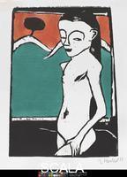 Heckel, Erich (1883-1970) Standing Child, 1910.