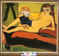 Heckel, Erich (1883-1970) Mädchen mit Puppe (Fränzi) / Girl with Doll (Fränzi), 1910