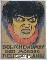 Heckel Erich (1883-1970) and Kirchner Ernst Ludwig  (1880-1938) Propaganda poster: Bolscevism, the Murderer of Germany, 1919