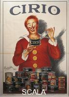 ******** Manifesti, Italia XX secolo. Cirio. Manifesto pubblicitario per le conserve alimentari, di Leonetto Cappiello (1875-1942), 1923.