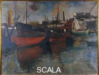 Bucci, Anselmo (1887-1955) Sailboats in the harbor