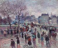 ******** Luce, Maximilien (1858-1941). Paris, Le Pont de l'Archeveche. 1896