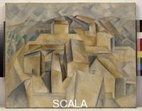 Picasso, Pablo (1881-1973) Horta de Ebro - Houses on a Hill, 1909