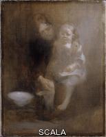 ******** The footbath, c1890. Artist: Eugene Carriere.