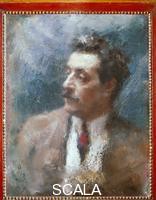 Rietti, Arturo (19th-20th cent.) Portrait of Giacomo Puccini