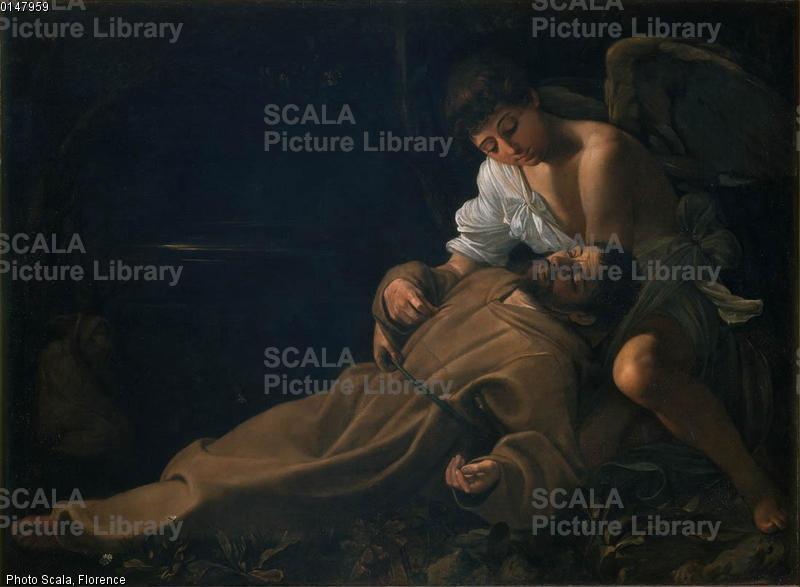 Caravaggio (Merisi, Michelangelo da 1571-1610), copia Estasi di S. Francesco
