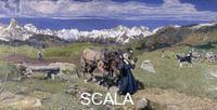 Segantini, Giovanni (1858-1899) Segantini, Giovanni (1858-1899). Springtime in the Alps; Primavera sulle Alpi. 1897