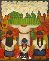 Rivera, Diego (1886-1957) Flower Festival: Feast of Santa Anita, 1931