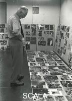 Page, Homer (1918-1985) Edward Steichen working on 'The Family of Man' exhibition, 1955