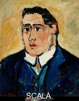 Vlaminck, Maurice de (1876-1958) Portrait of Guillaume Apollinaire, circa 1904-1905