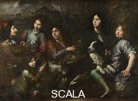Scuola olandese Sportsmen Resting, about 1650