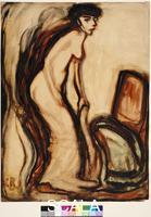 Rohlfs, Christian (1849-1938) Frau mit Stuhl, 1909. WV-Nr. Vogts 09/1