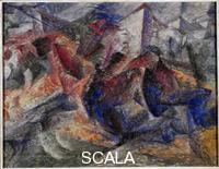 Boccioni, Umberto (1882-1916) Horse, Rider and Group of Houses, 1914