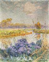 Claus, Emile (1849-1924) La Lys - De Leie. c. 1902