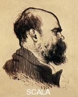******** Portrait of Paul Verlaine (Metz, 1844-Paris, 1896), French poet. Painting by Louis Anquetin (1861-1932).