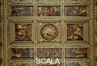 Vasari, Giorgio (1511-1574) Giorgio Vasari (1511-1574); Plafond: partie centrale; Palazzo Vecchio, Salle des Cinq Cents; Florence